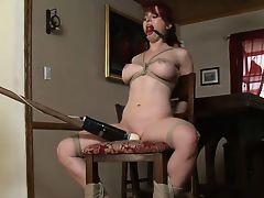 tied to chair and vibed