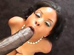 Hot Black Slut POV BBC By The Pool