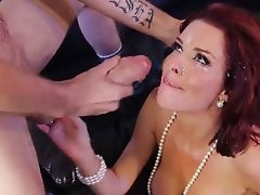 Veronica Avluv gets huge facial blast from monster cock