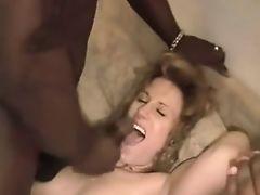 Amateur - Mature Redhead BBC MMF Threesome Pie & Facials