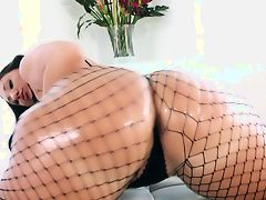 Thick Latina in Black Lingerie