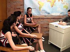 cheerleader footjob