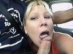 Milf blowjob in the car