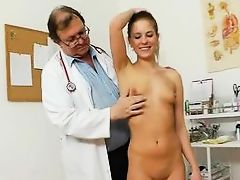 Pretty Girl Keira Gets Examined Naked