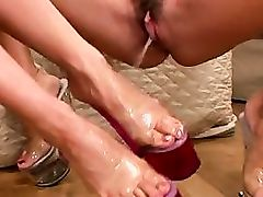 lick pee over feet