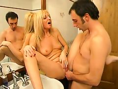 ITALIAN PORN 4 blonde mom mature milf and a younger man