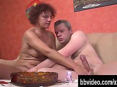 Horny mature german slag take cock