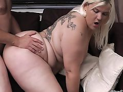 Husband cheats with hot blonde plumper