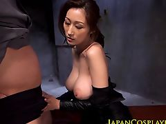 Busty japanese ninja Julia pounded