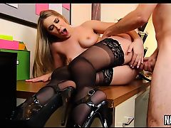 Swwet Pussy Hairy Blonde Cock Riding Hard Kimber Lee