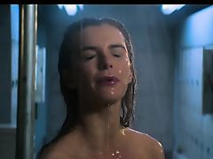 Betty Gilpin naked shower scene