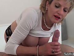 Cheating english milf lady sonia reveals her huge tits