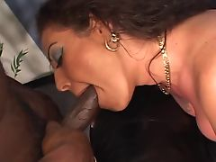 Tit tatted MILF gets fucked by black guy