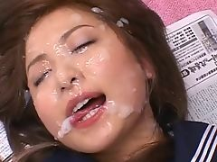 Marin Schoolgirl Bukkake Cum Shower