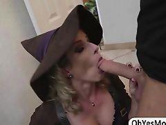 Amazing milf Cory teaches Rose to suck