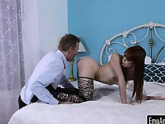 Teen emo slut Alexa Nova drilled in her pussy and ass