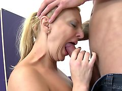 Real mature mom suck and fuck not her son