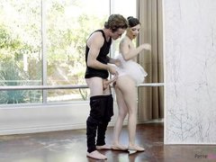 petite ballerina's little glory hole stretched after fuck
