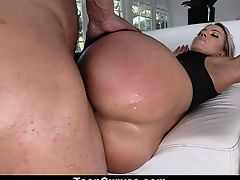 TeenCurves- Blonde Babe Gets Big Ass Fucked In Stockings