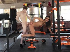 Doggy style siblings sex in the gym