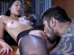 PantyhoseLine Video: Mima A and Frederic