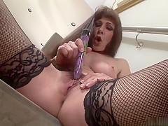 Fabulous pornstar Alexandra Silk in best masturbation, solo sex clip