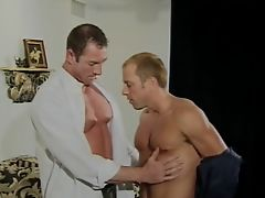 Kinky gay men ass waxing in white house