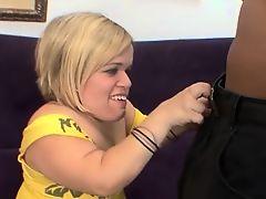 Blonde Midget Gets Her Twat Fucked