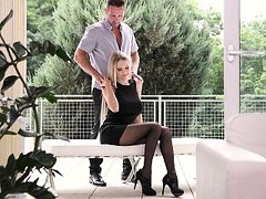 Foot fetish affair with a hot teen blonde