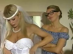 Blonde gets fucked hard on the dining room table