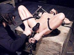 the bondage device works for slutty ariel