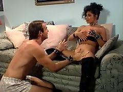 Brunette gets pussy licked and gives blowjob before fucking