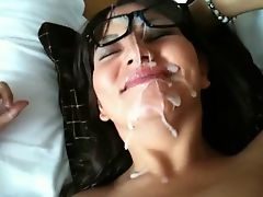 Really cum plastering her face good 4